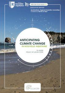 Page de couverture - Anticipating climate change in Nouvelle-Aquitaine - Lien de téléchargement du document